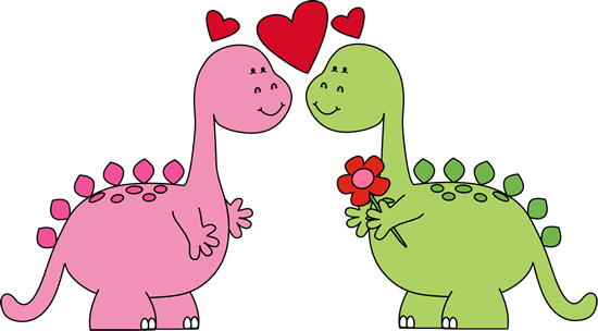 valentines day clip art dinosaurs in love