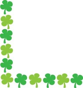 St patricks day borders clipart