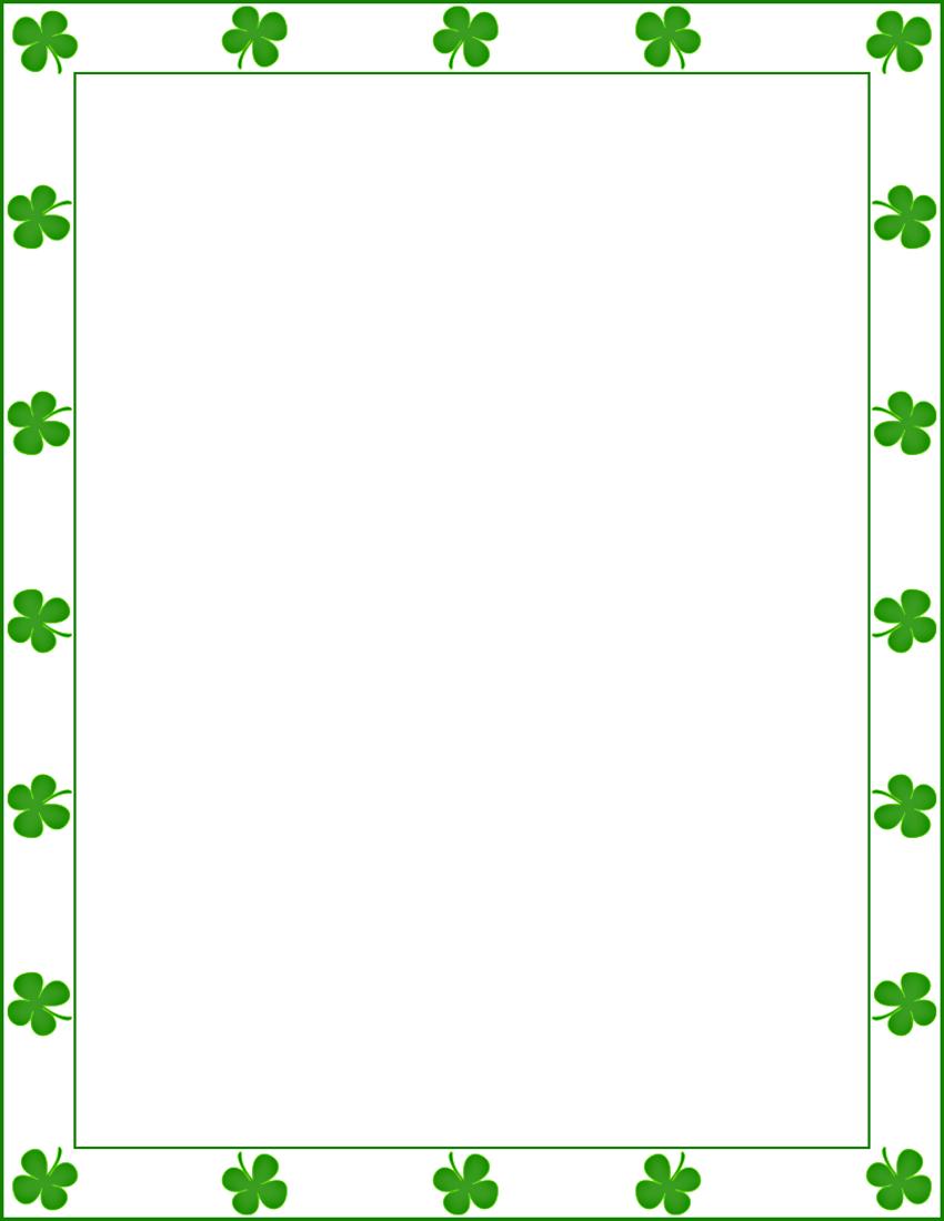saint patrick shamrock border clipart rh clipart info Leprechaun Clip Art Green Border Clip Art