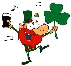 St patricks day clipart image an irish man dancing to music