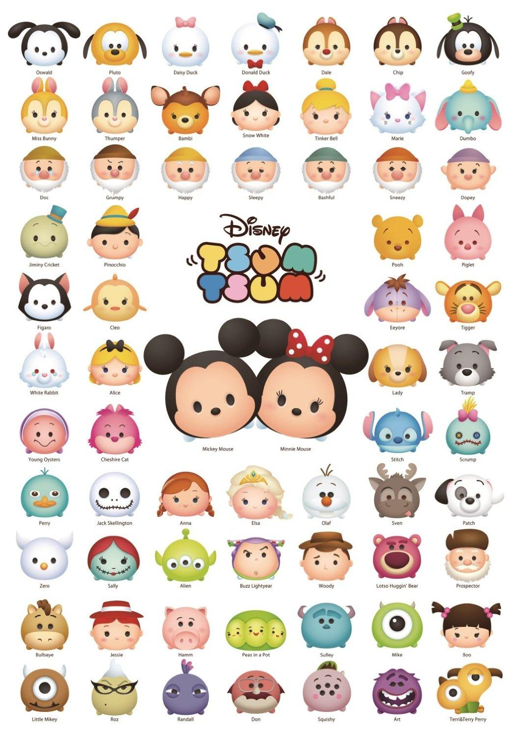 tsumtsum complet list character disney