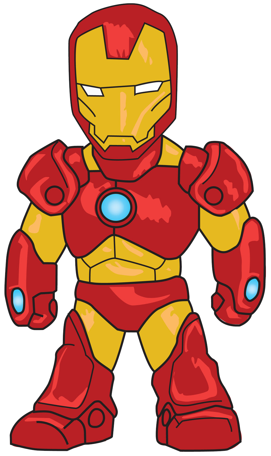 Cartoon Iron Man Clip Art Png