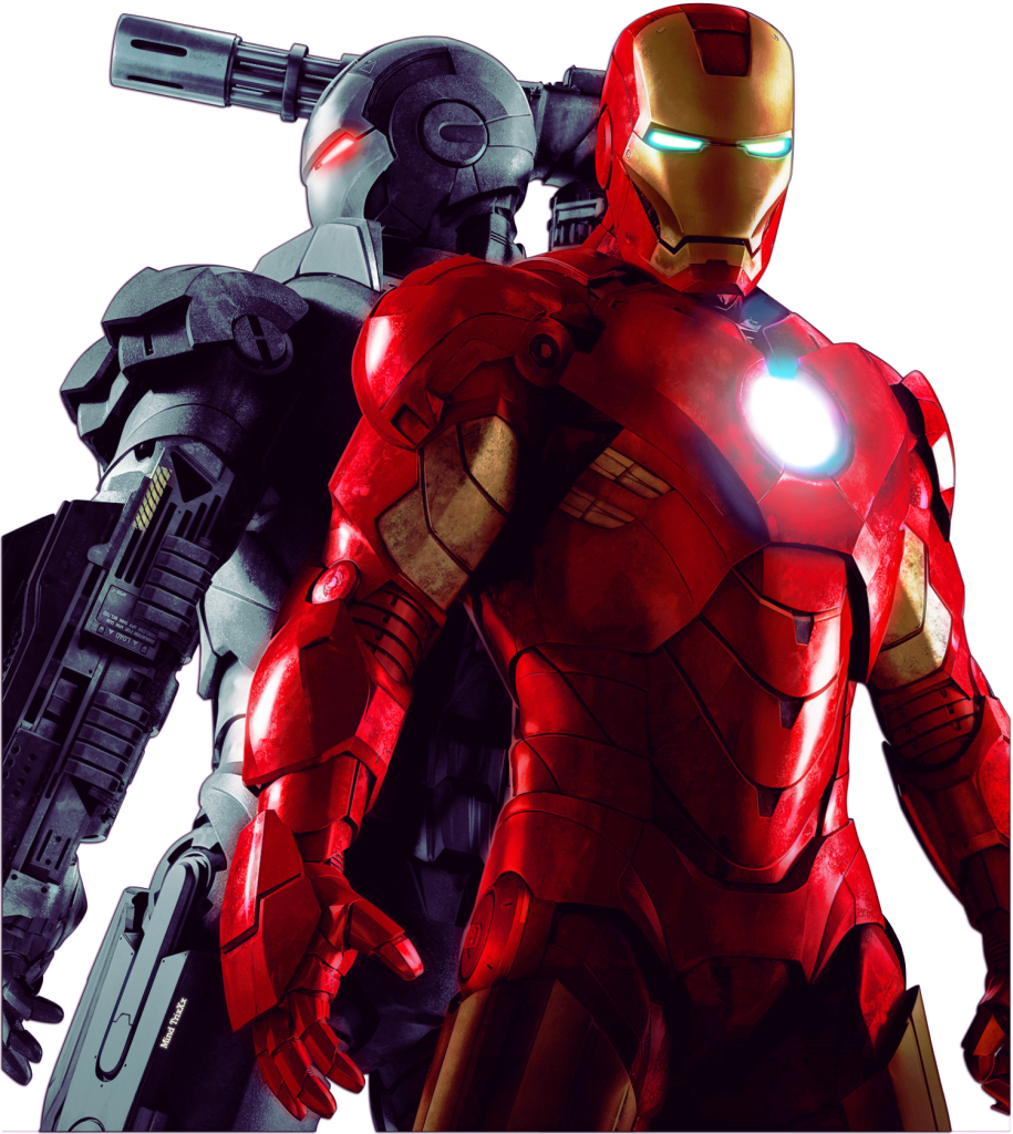 iron man vs bad iron man marvel clipart png