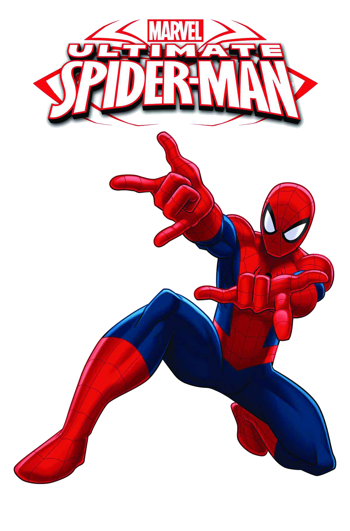Ultimate Spiderman With Logo Clipart