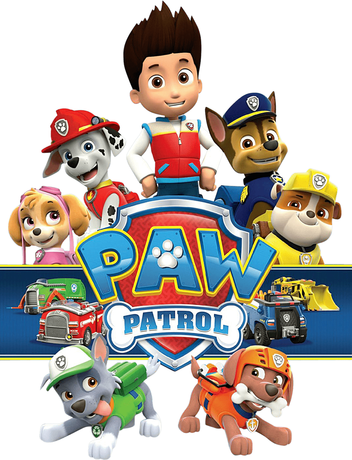 Pawpatrol With Logo Png Transparent Paw Patrol Clipart