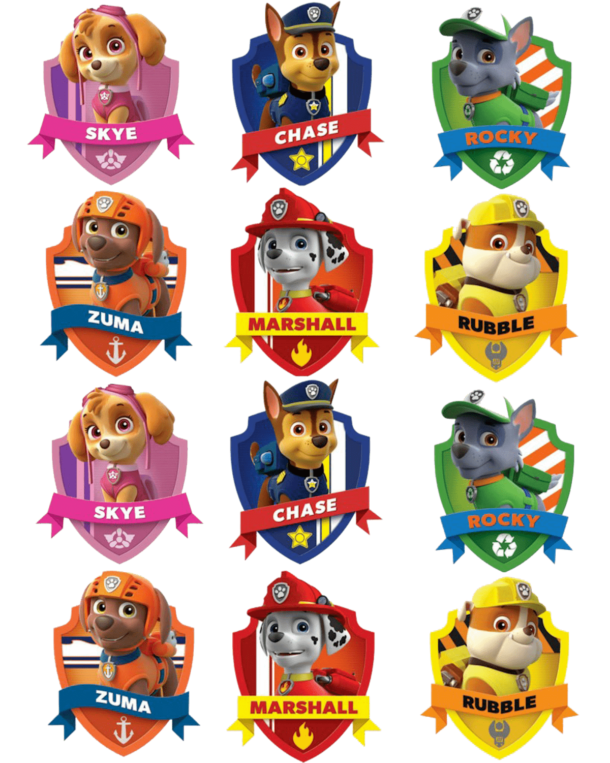 badges paw patrol clipart png clipart starving clipart starfish svg