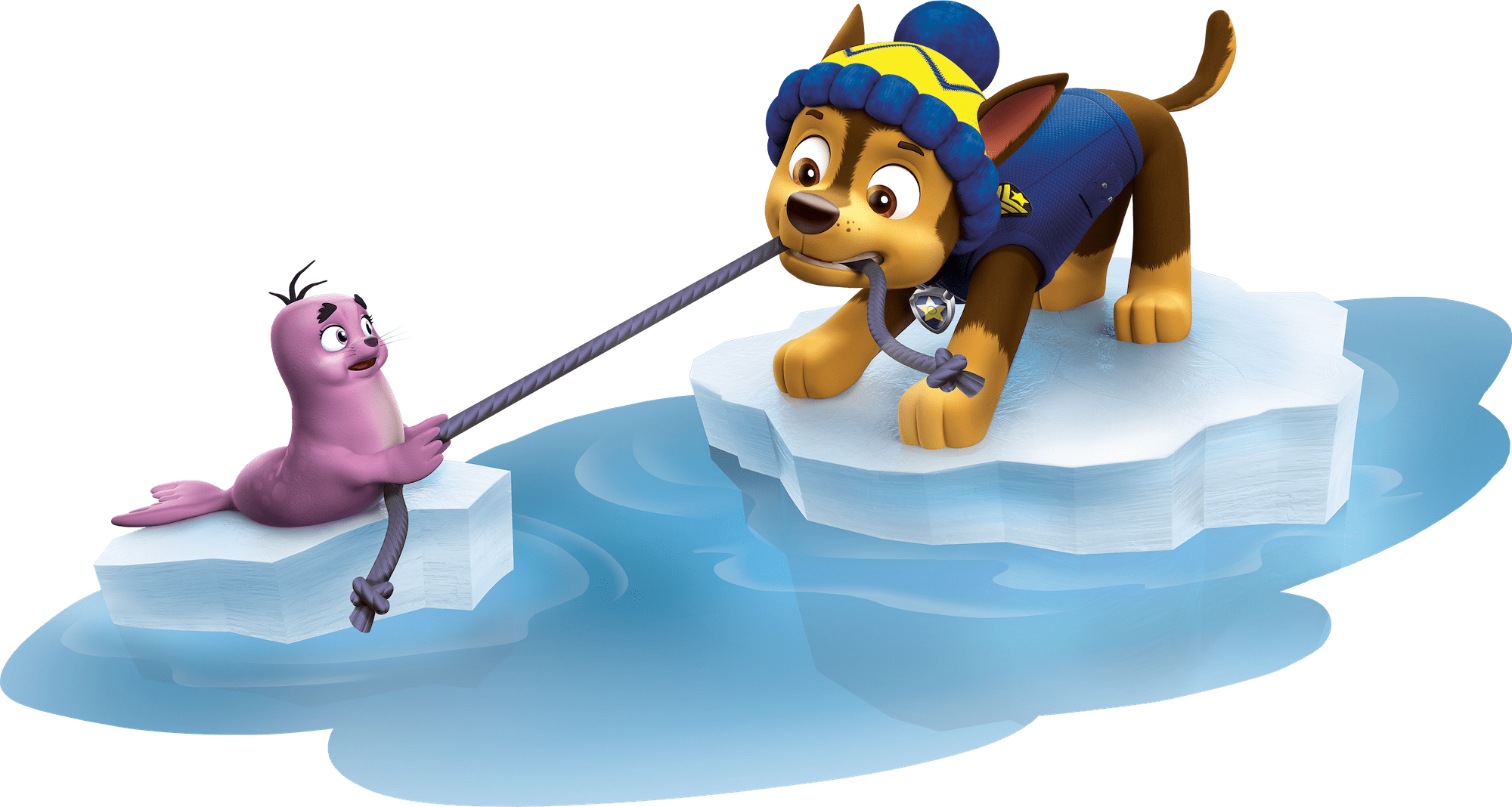 chase having fun paw patrol clipart png