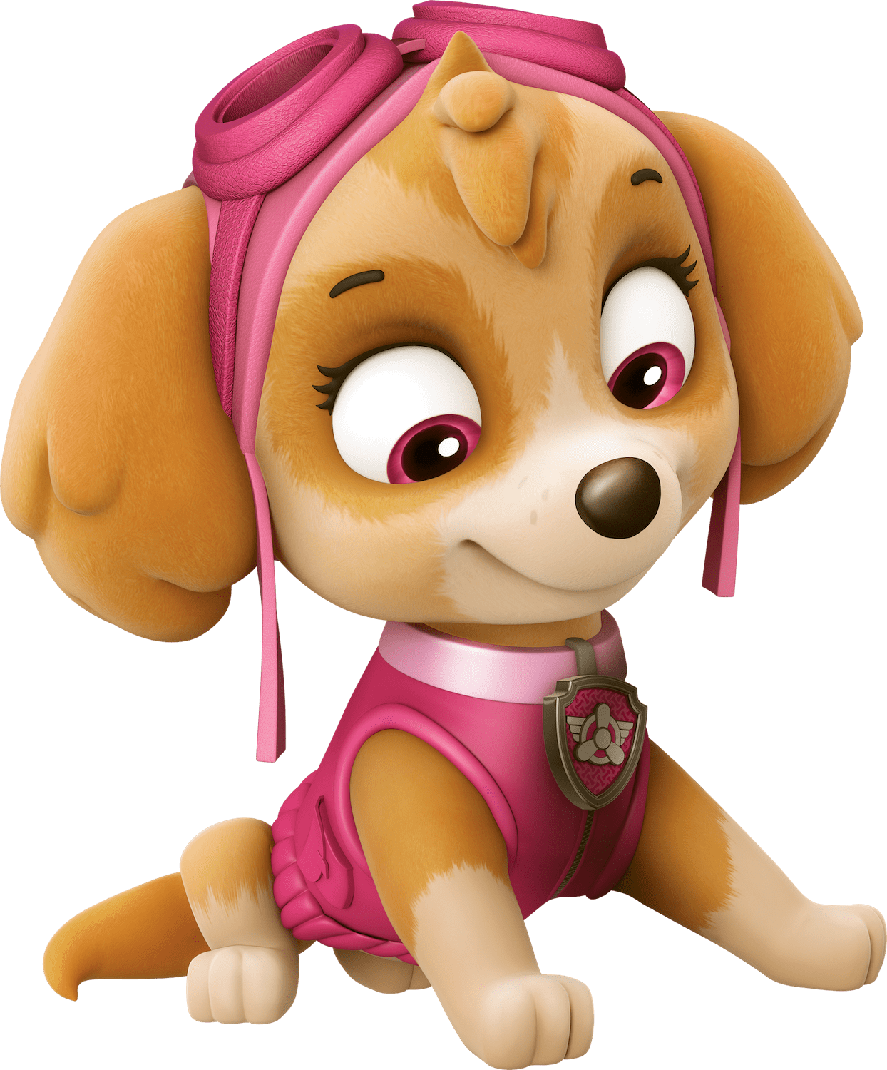 skye is doing yoga paw patrol clipart png