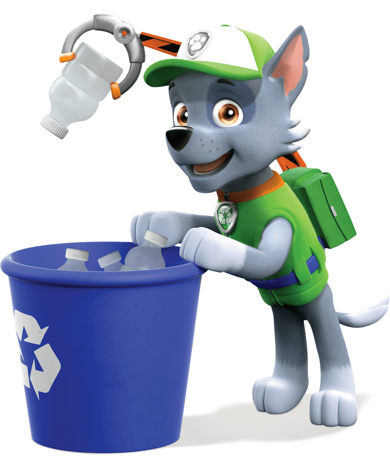 Rocky Collect Trash Paw Patrol Clipart Png