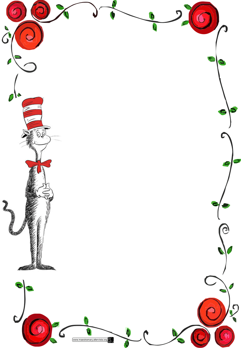 Free dr seuss border rose flowers free invitation card print stopboris Image collections
