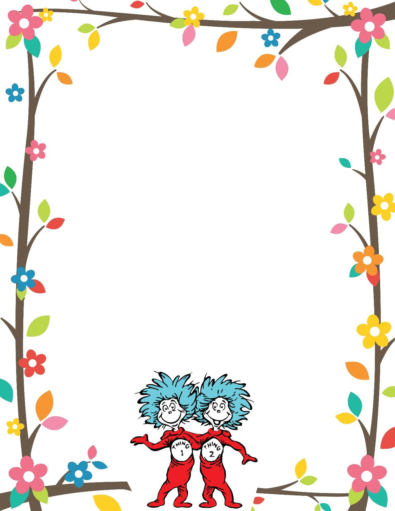dr seuss border invitation free print Dr. Seuss Quotes Dr. Seuss Quotes