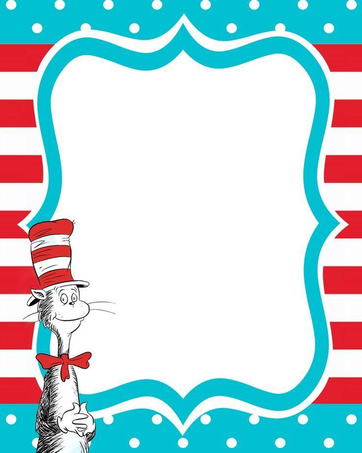 image relating to Printable Dr Seuss Images named Dr Seuss Printables Dr Seuss Printable Invite Birthday Designs