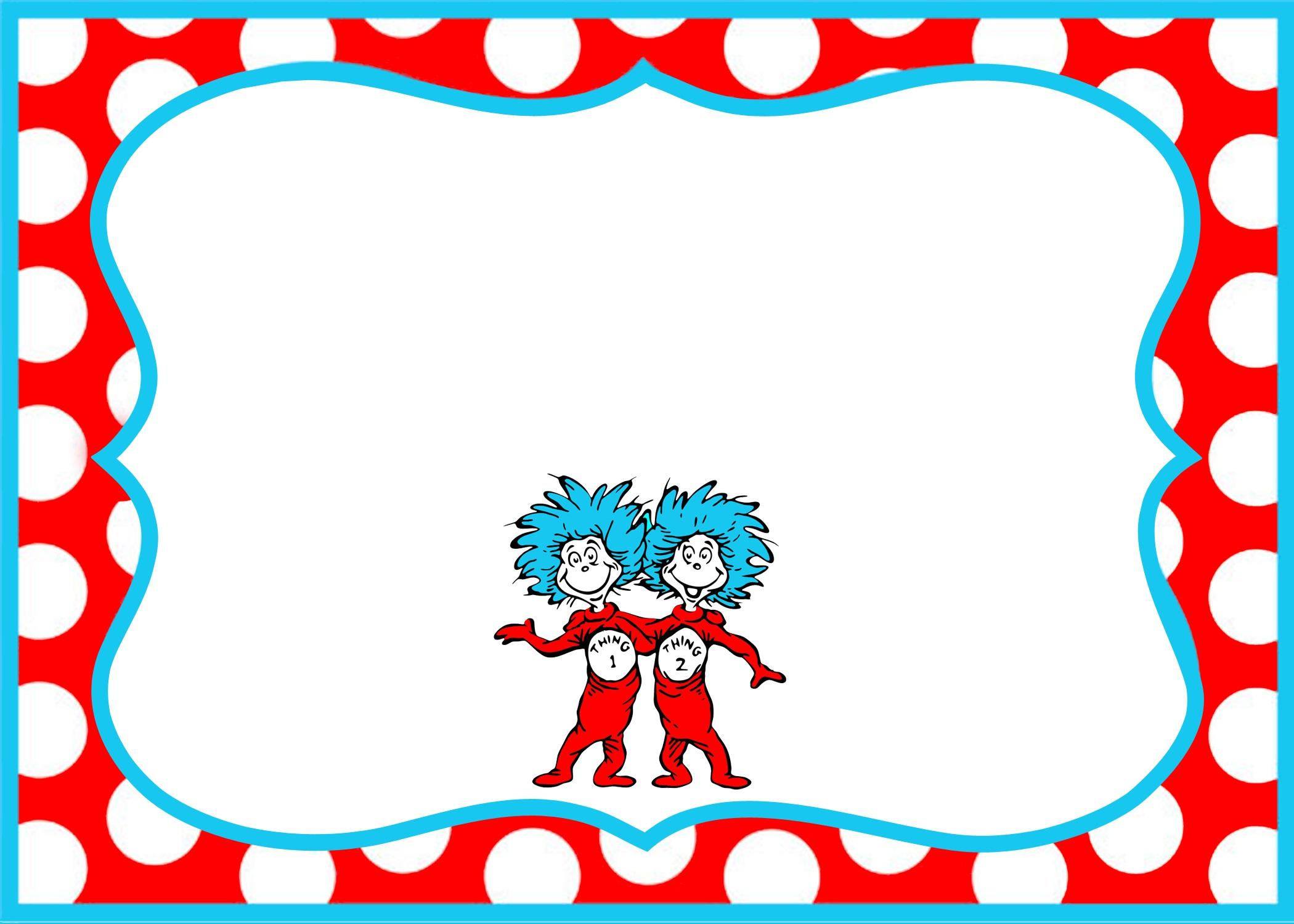 Gorgeous Dr Seuss Border Party Invitation Template According Newest ...