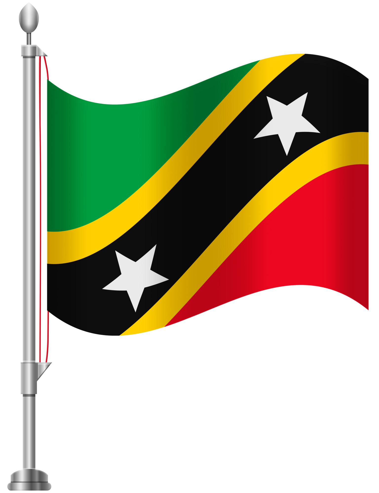 St Kitts and Nevis Flag PNG Clip Art