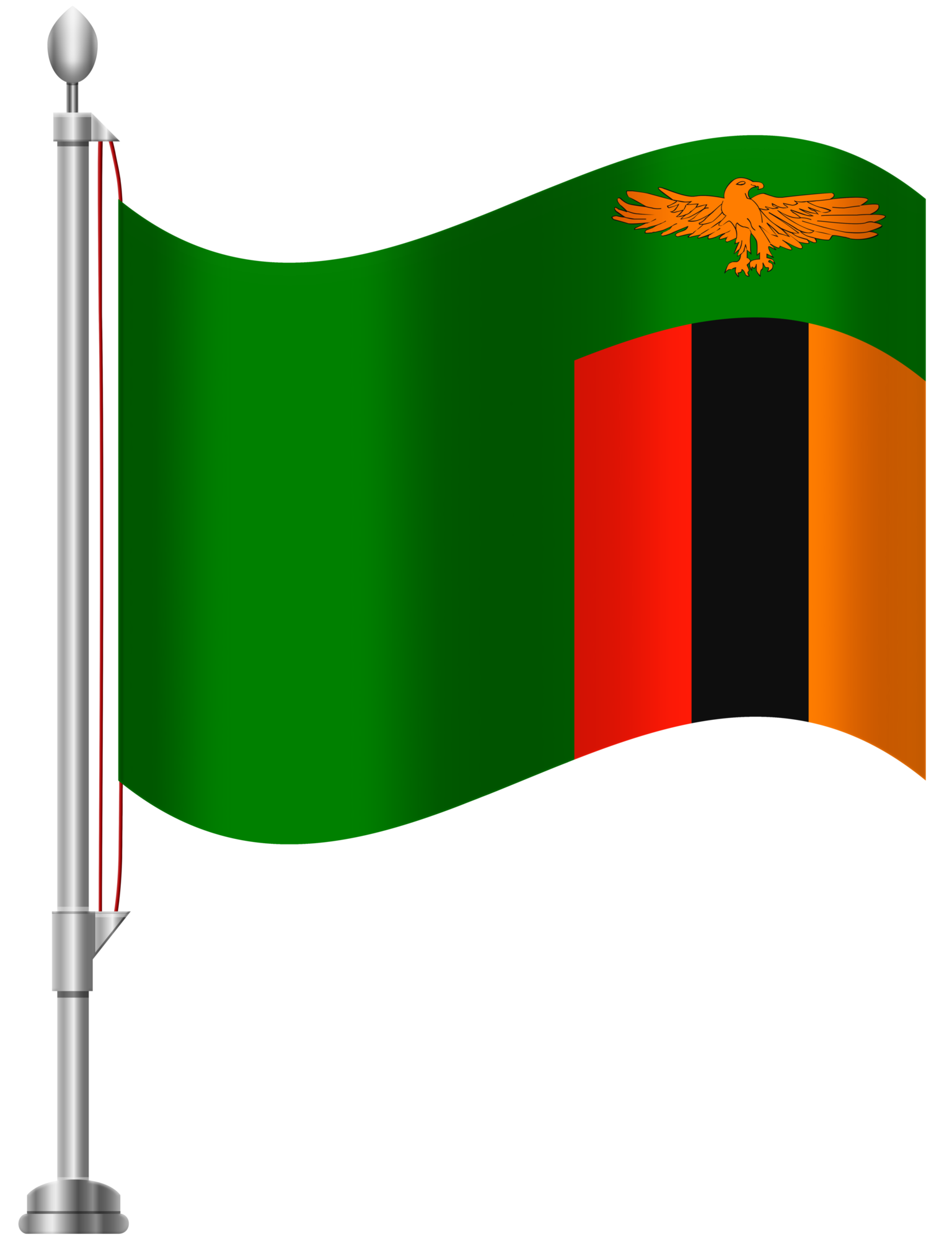 Zambia Flag PNG Clip Art