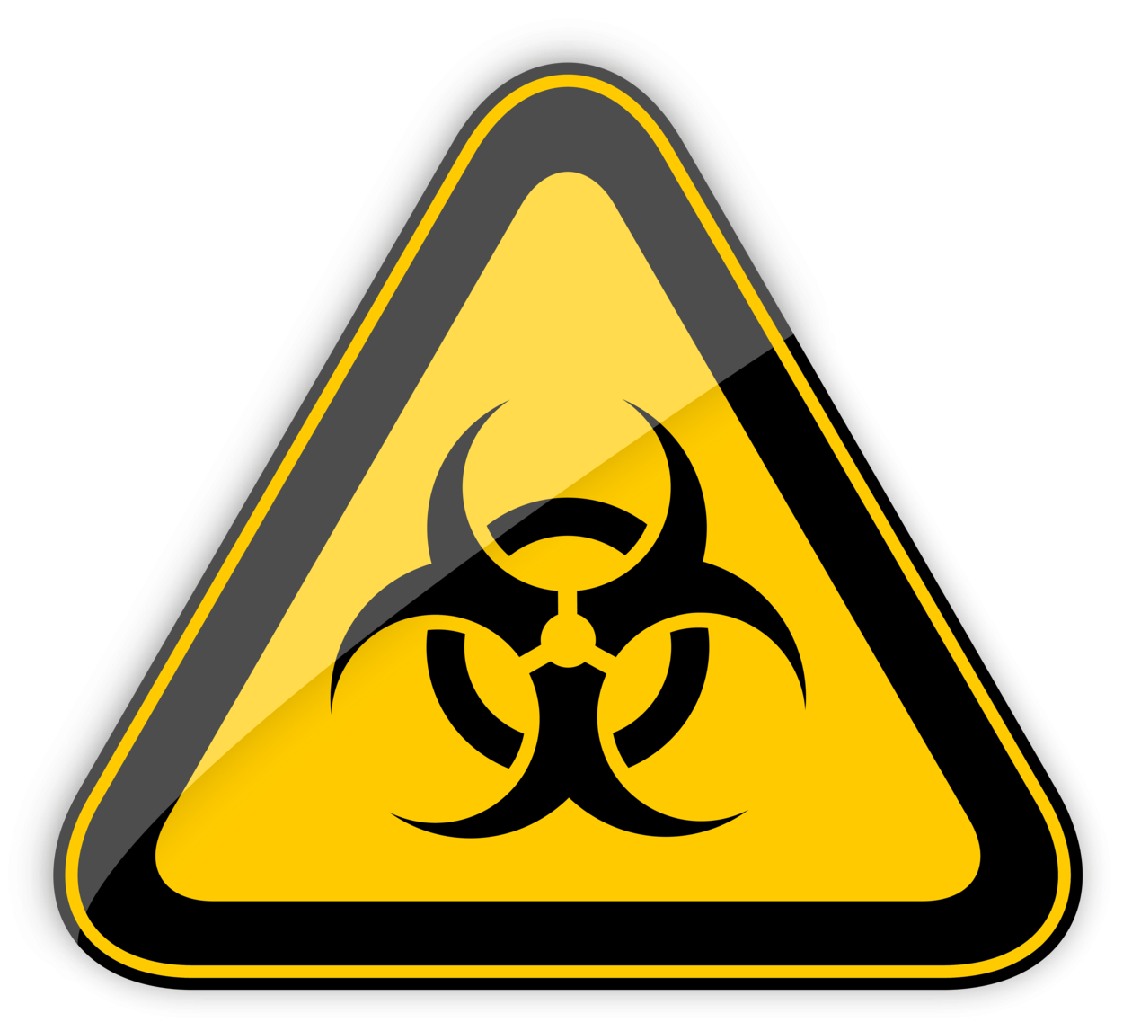 Biohazard Warning Sign PNG Clipart