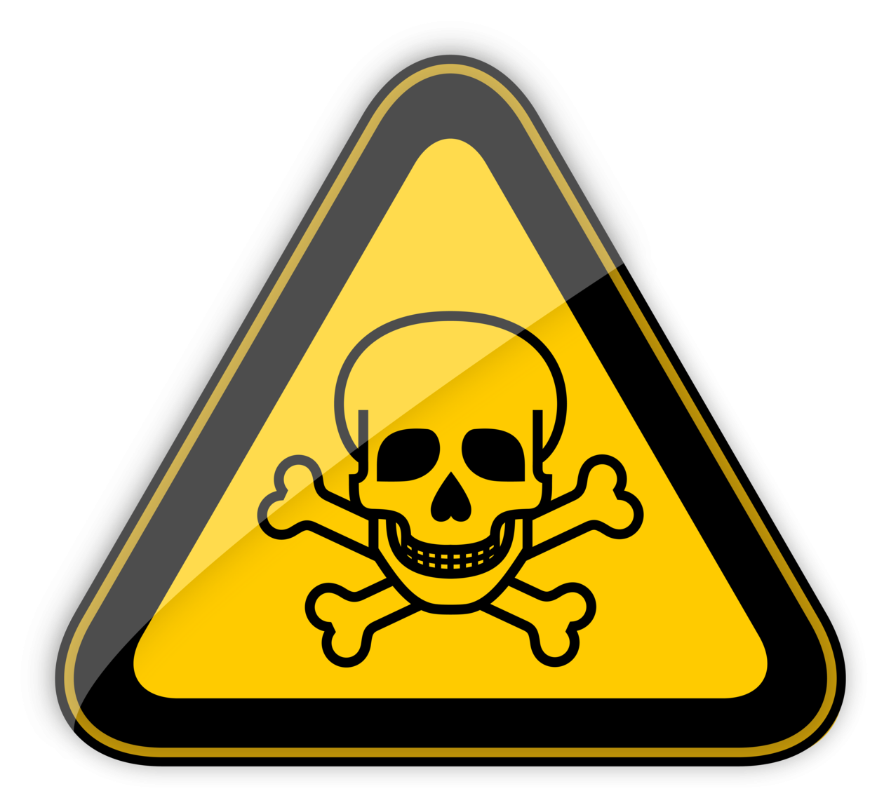 Toxic Warning Sign PNG Clipart
