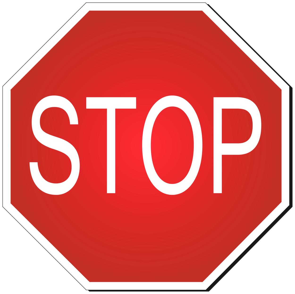Stop Road Sign PNG Clipart