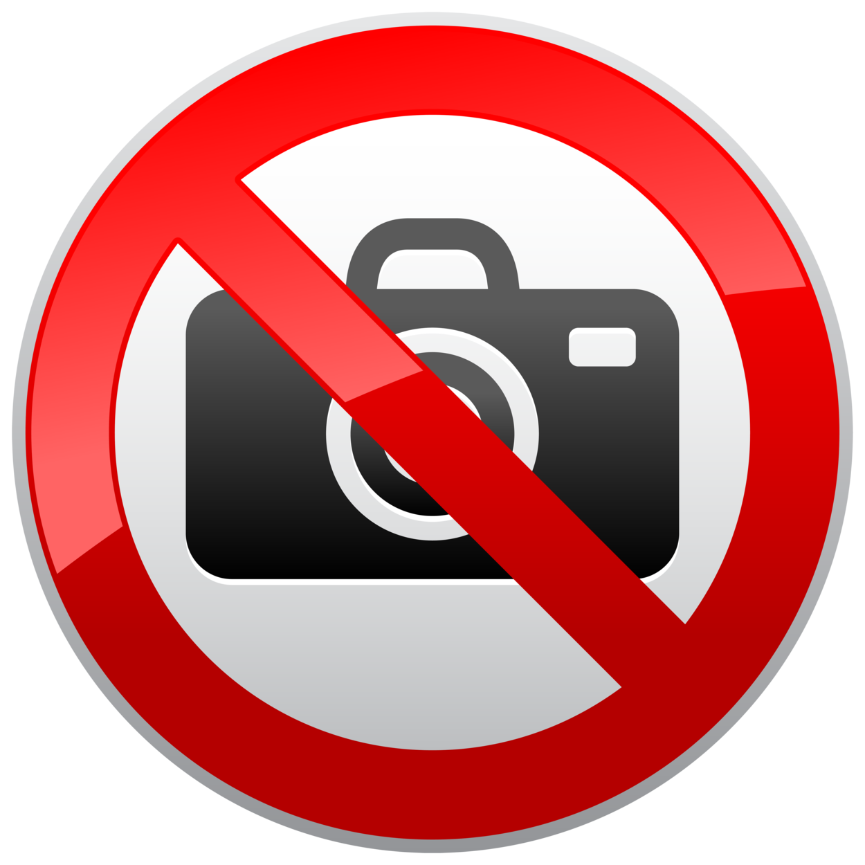 No Photography Prohibition Sign PNG Clipart