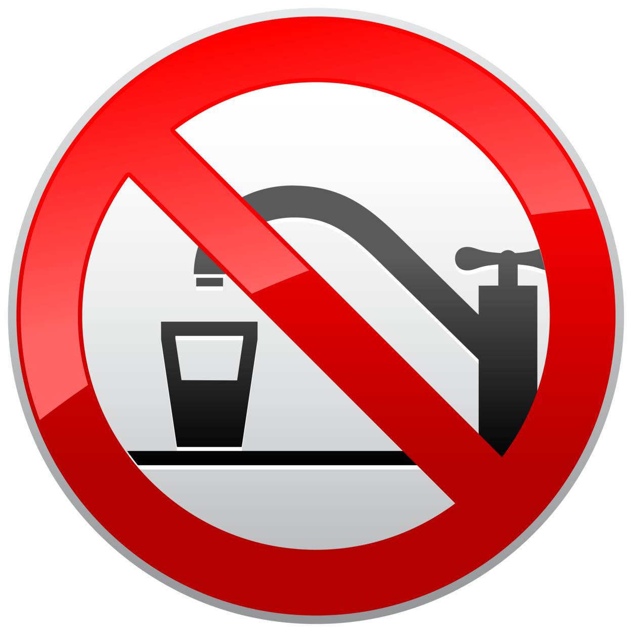 Not Drinking Water Prohibition Sign PNG Clipart
