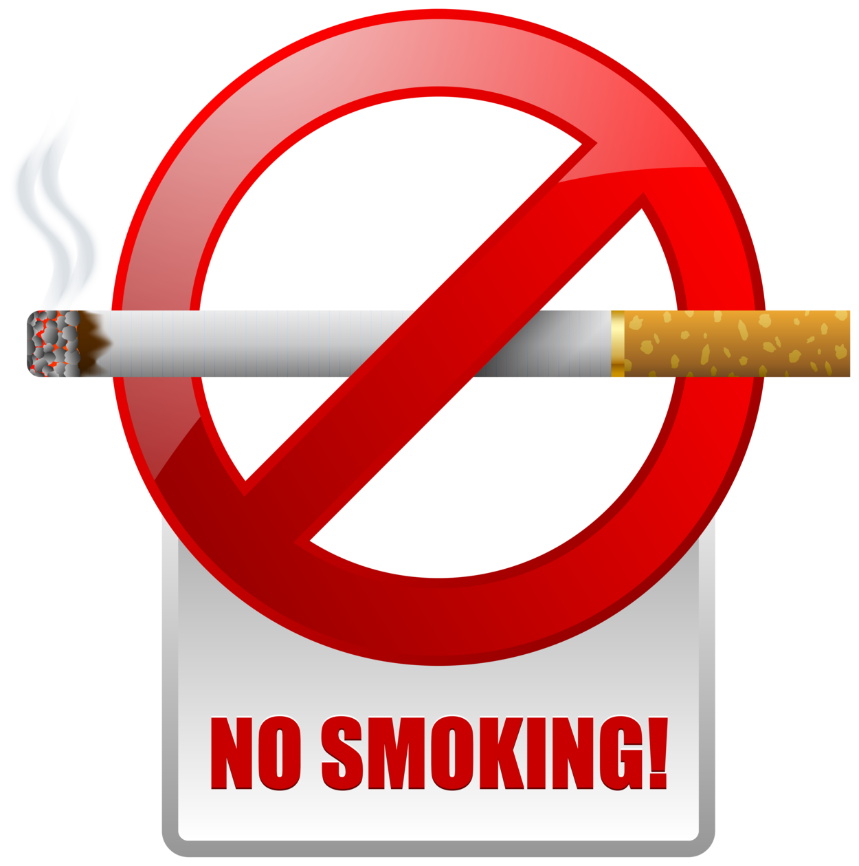 Red No Smoking Warning Sign PNG Clipart