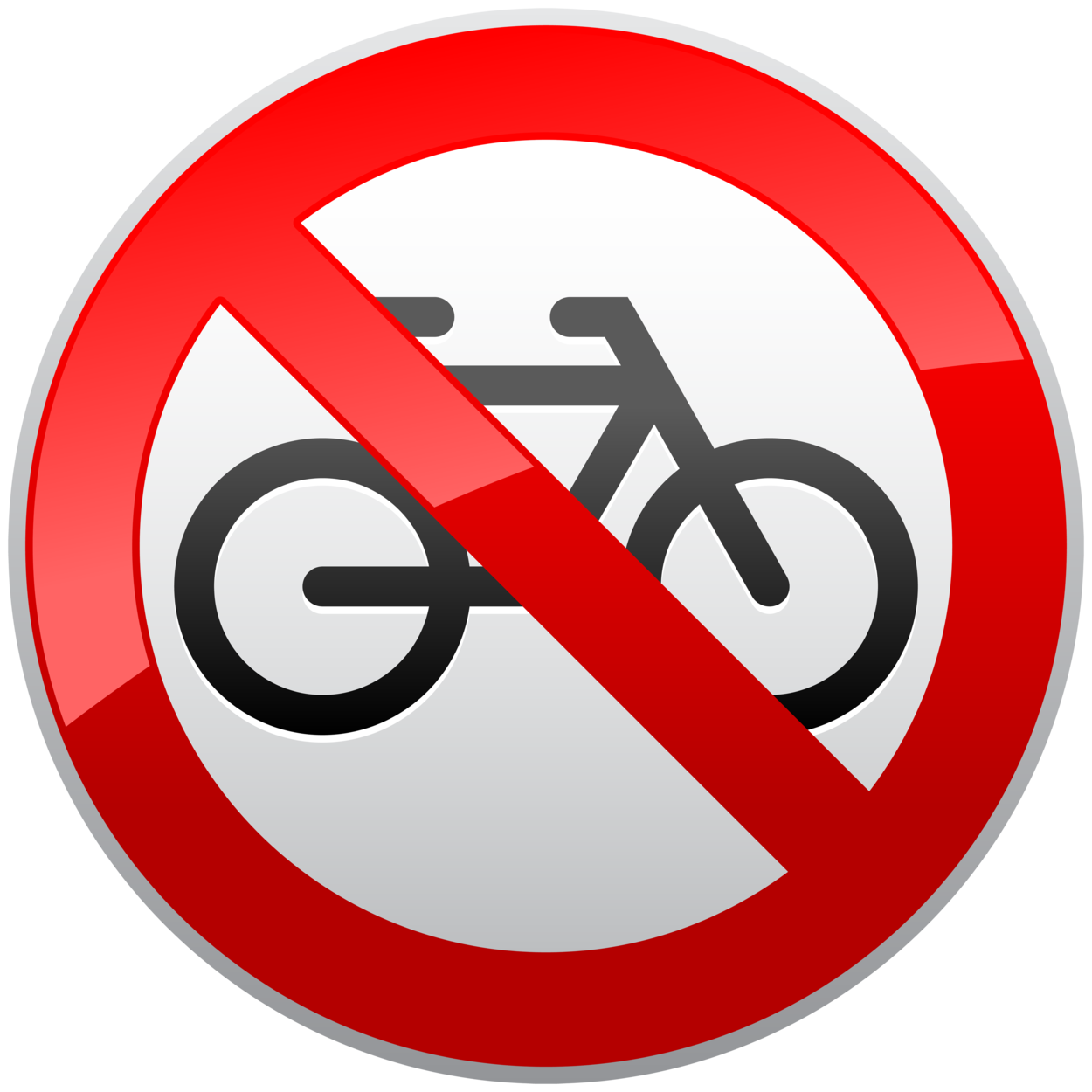 No Cycles Prohibition Sign PNG Clipart