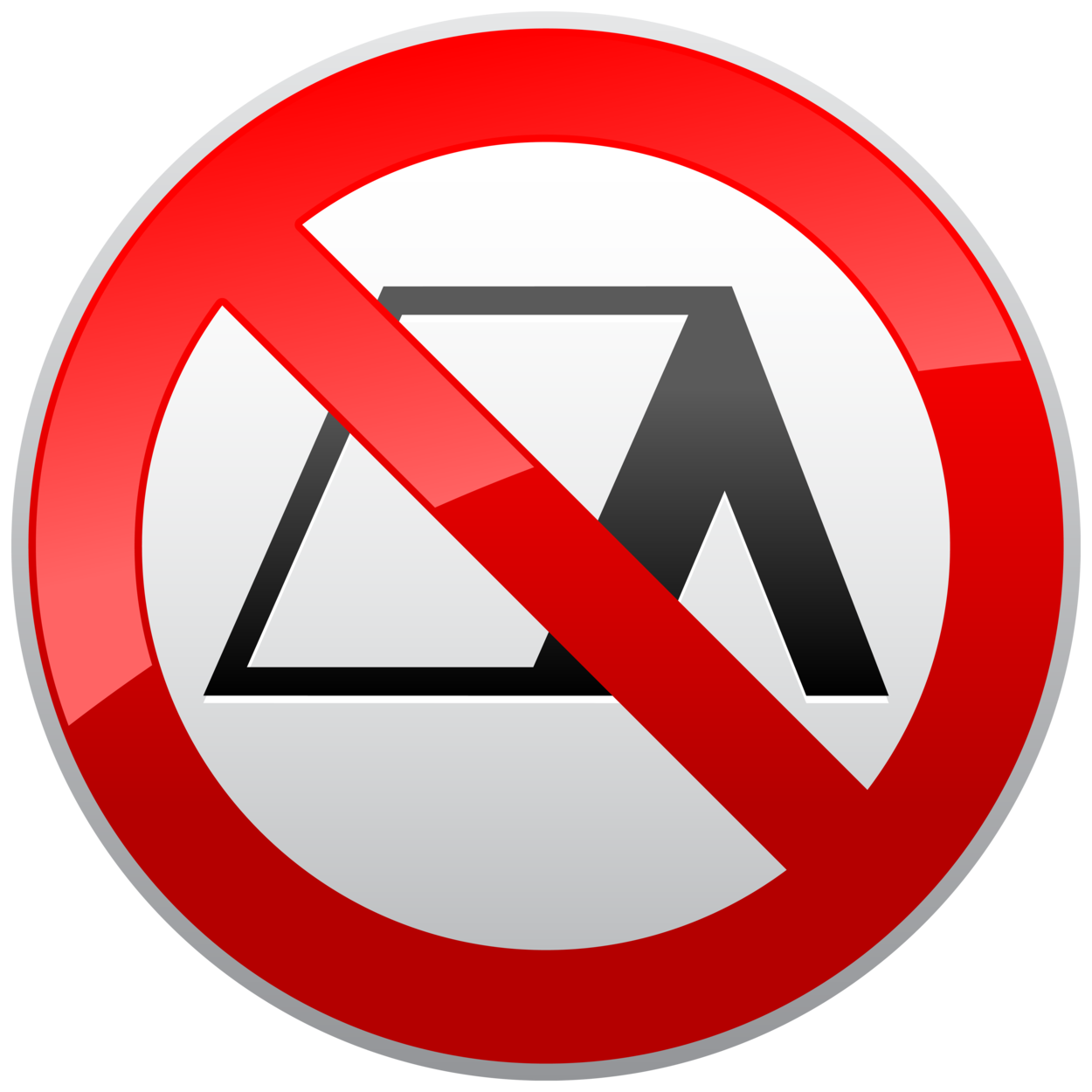 No Camping Prohibition Sign PNG Clipart