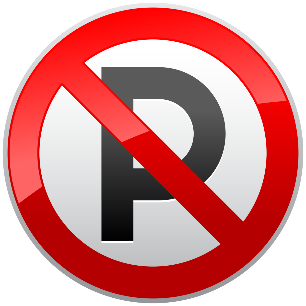 No Parking Prohibition Sign PNG Clipart