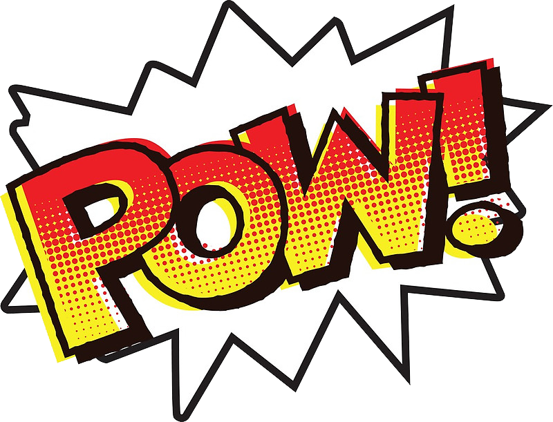 pow pow cartoon message text batman