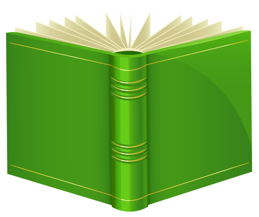 Book Cover Transparent Background : Green book png clipart