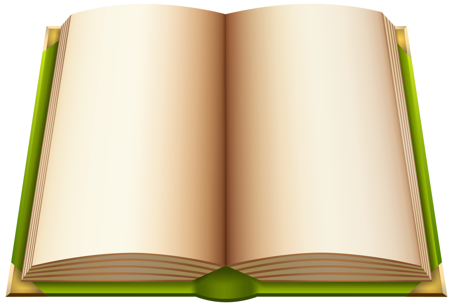 Green Open Book PNG ClipArt
