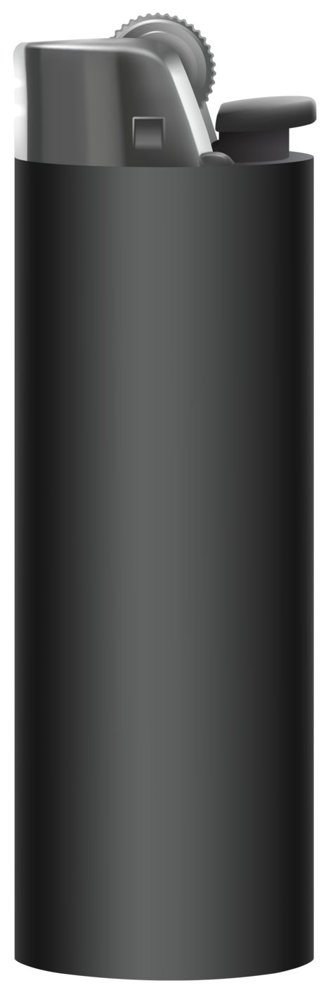 Black Cigarette Lighter PNG Clipart