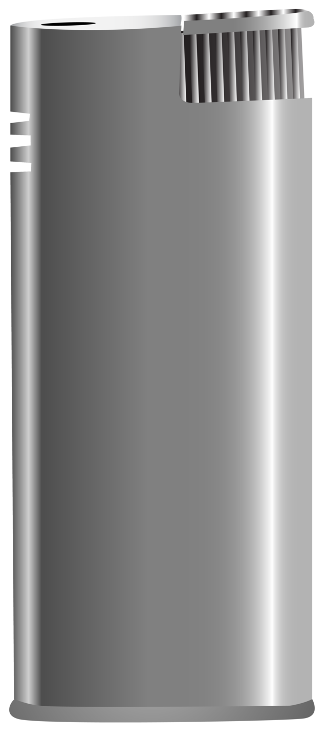 Silver Cigarette Lighter PNG Clipart