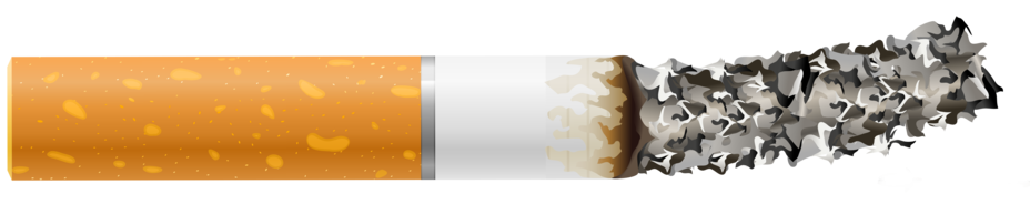 Cigarette Butt with Ash PNG Clipart