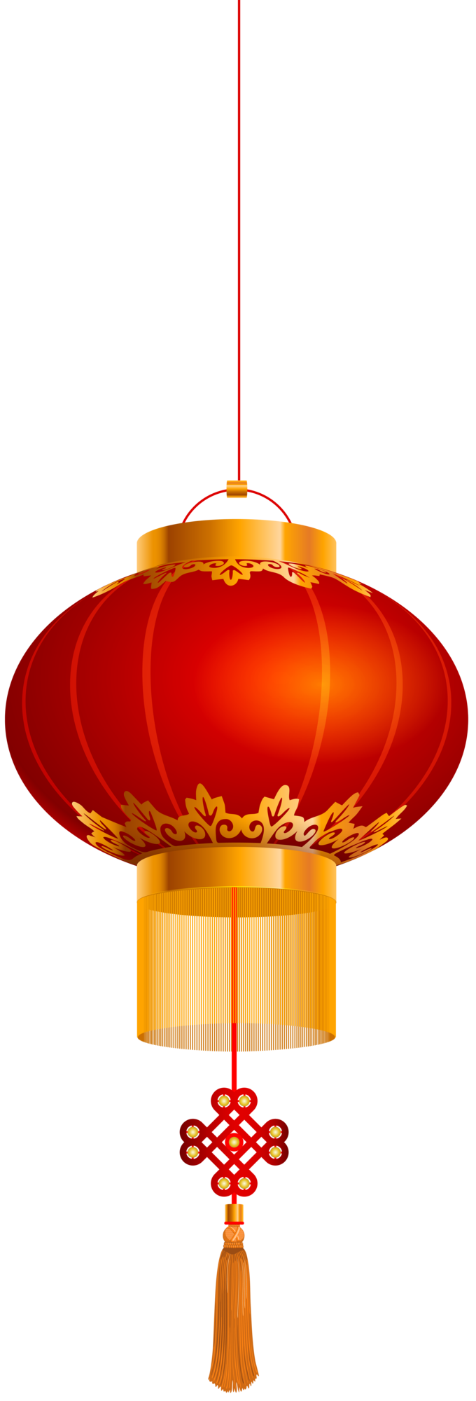 Chinese Lantern Gold Red PNG Clip Art