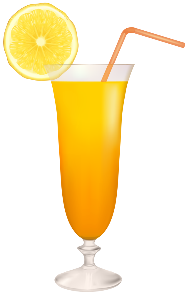 Cocktail Glass with Lemon PNG Clipart