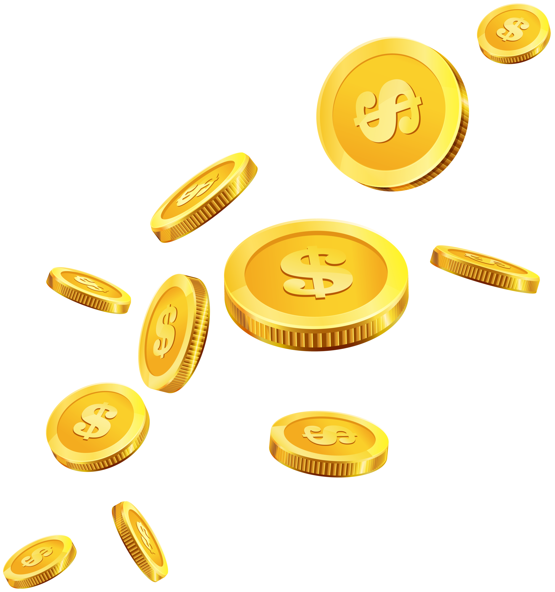 Coins Gold PNG Clip Art