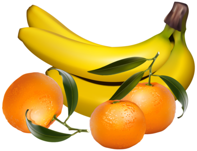 Bananas and Tangerines PNG Clipart