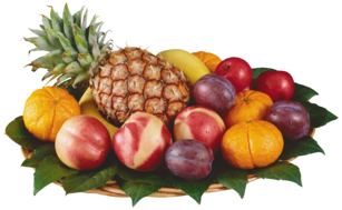 Mixed Fruits in Bowl PNG Clipart