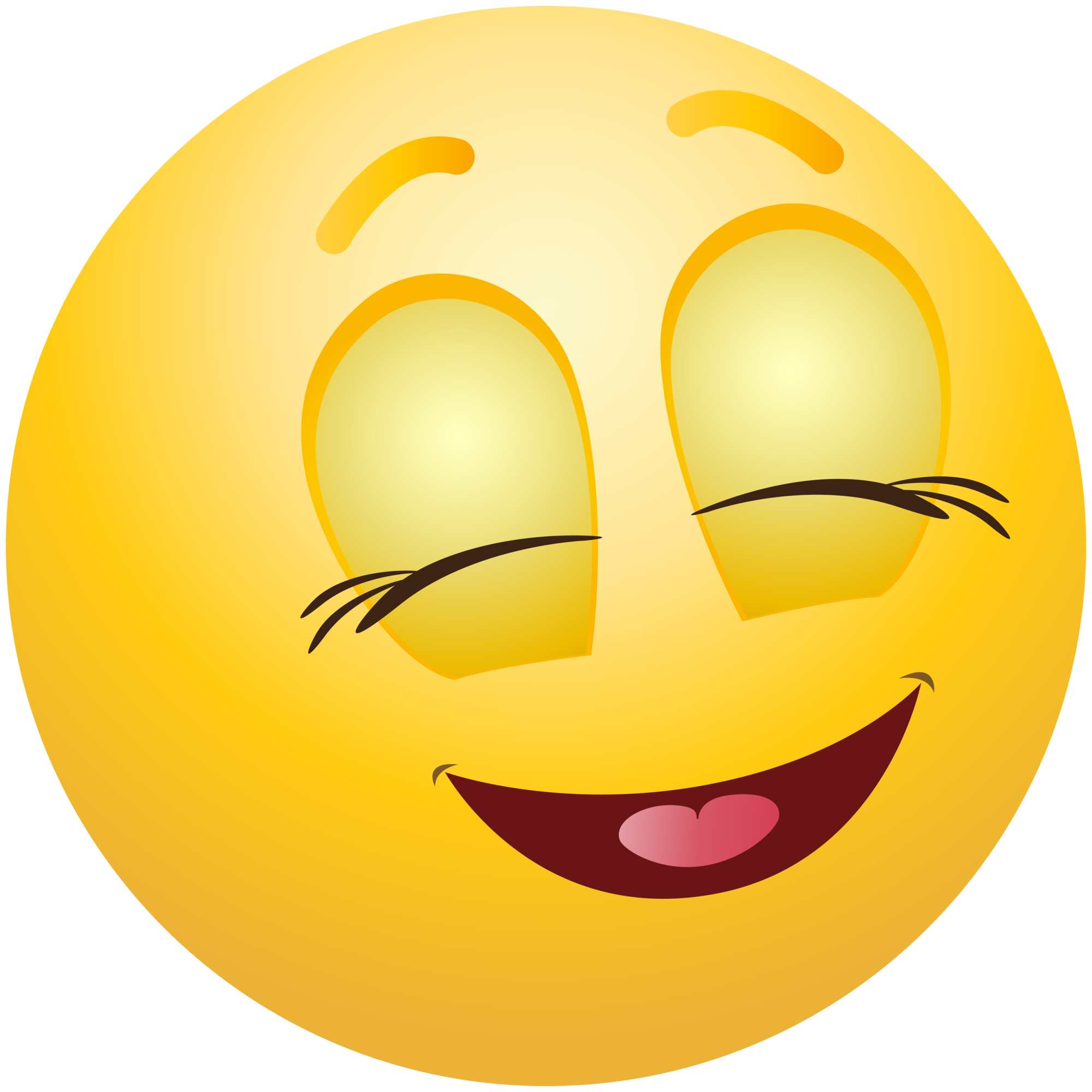 Pleased Emoticon Emoji Clipart Info