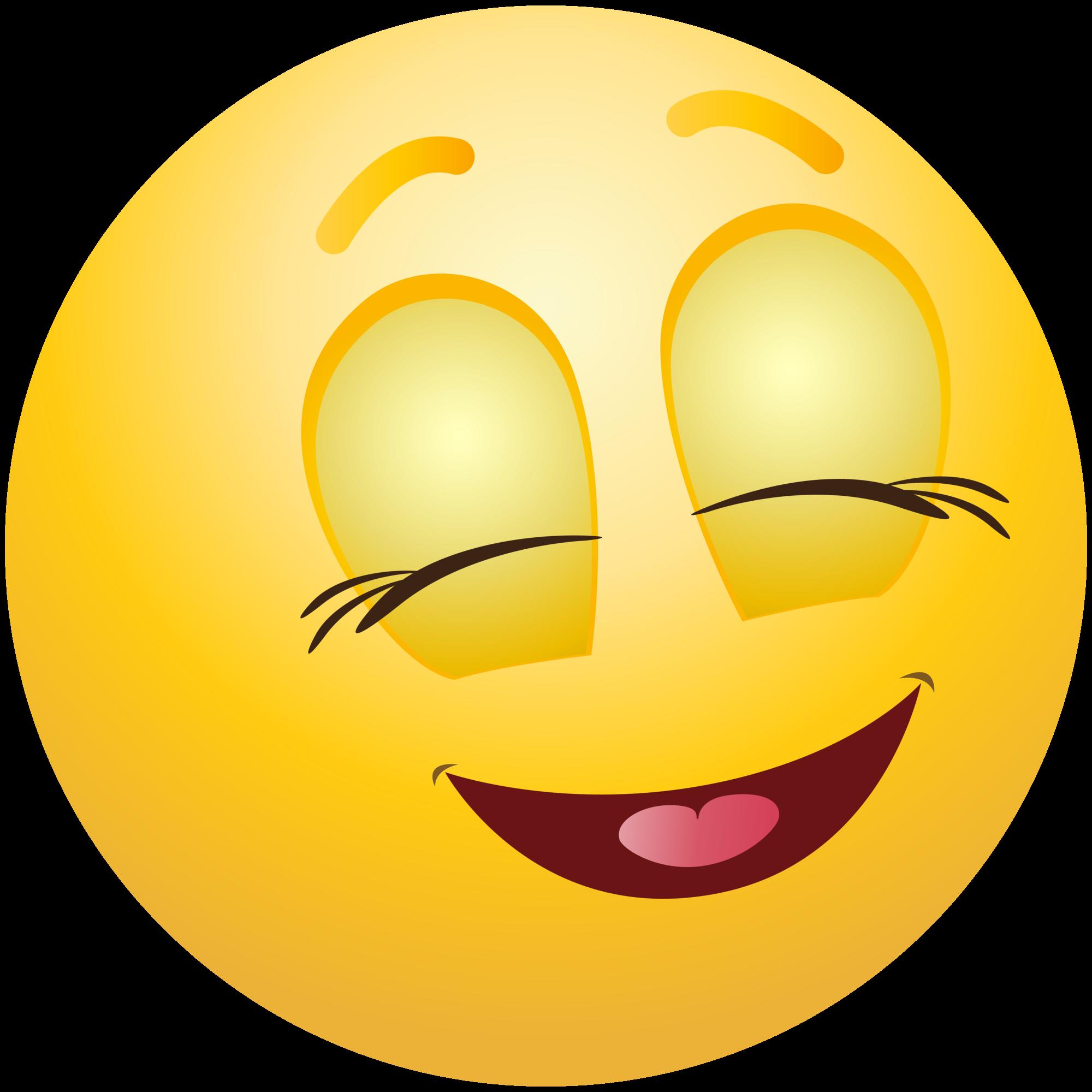 Pleased Emoticon Emoji Clipart Info