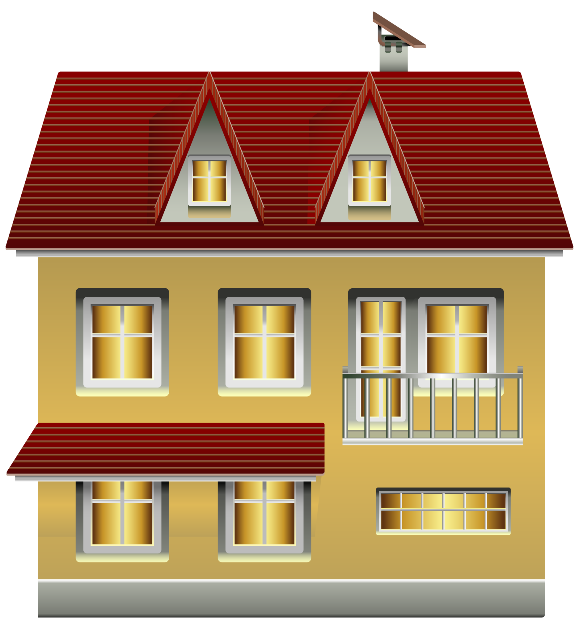 clip yellow clipart ronaldo houses modern info clipartpng link