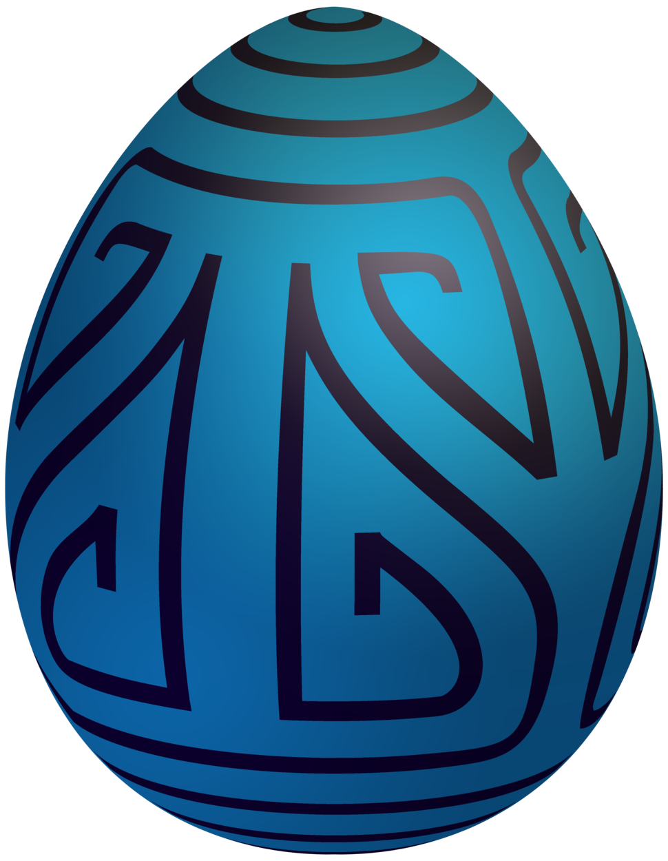 Easter Blue Decorative Egg PNG Clip Art