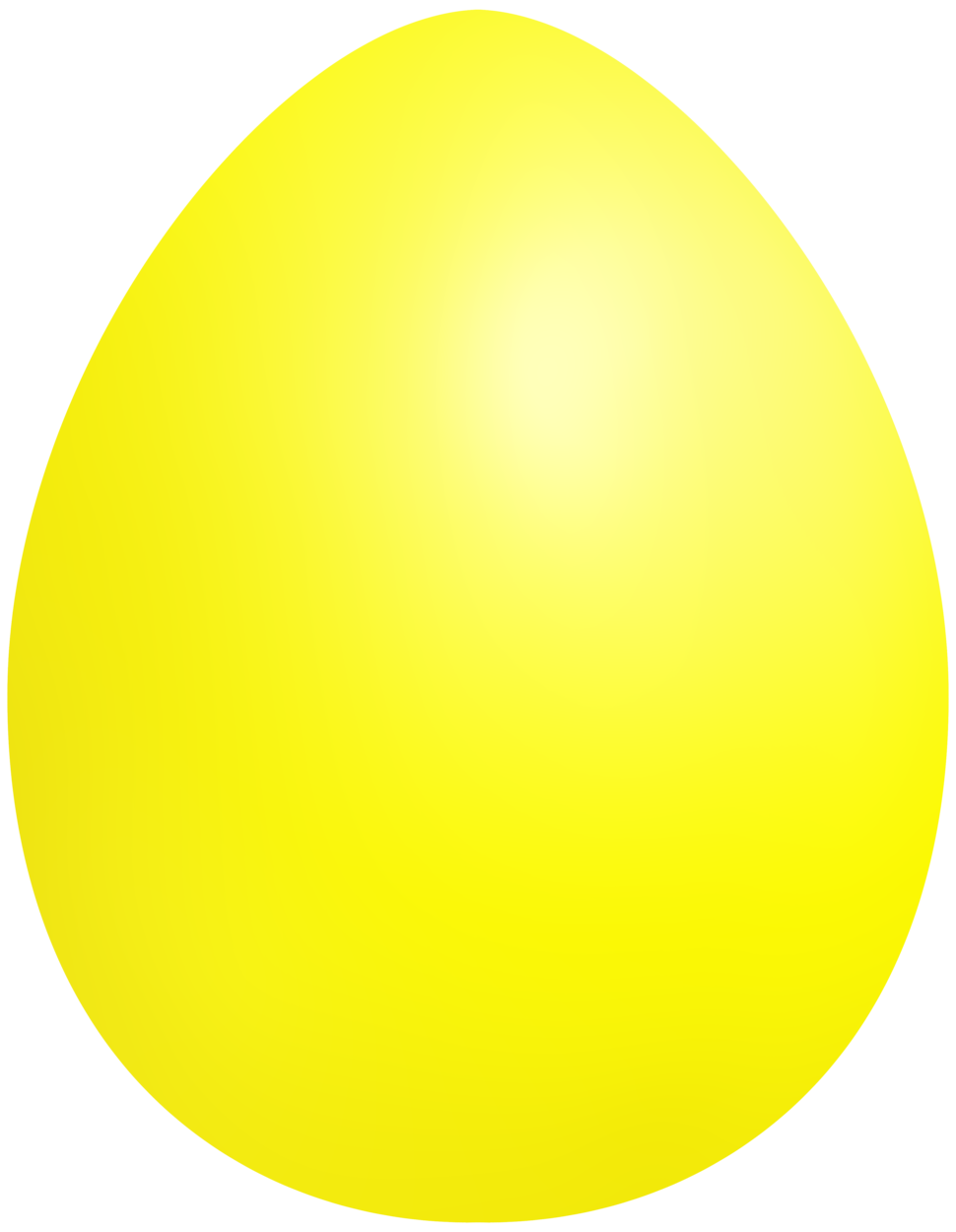 Yellow Easter Egg PNG Clip Art