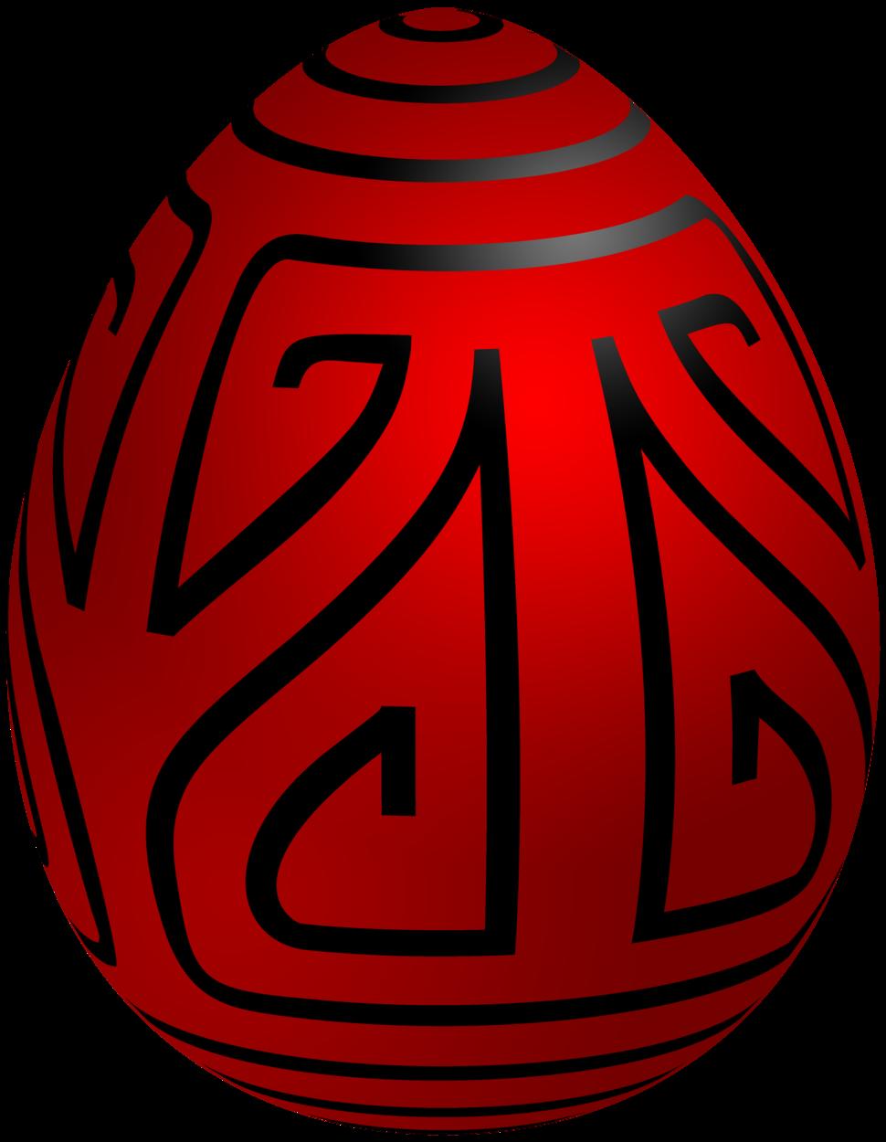 Easter Red Deco Egg PNG Clip Art