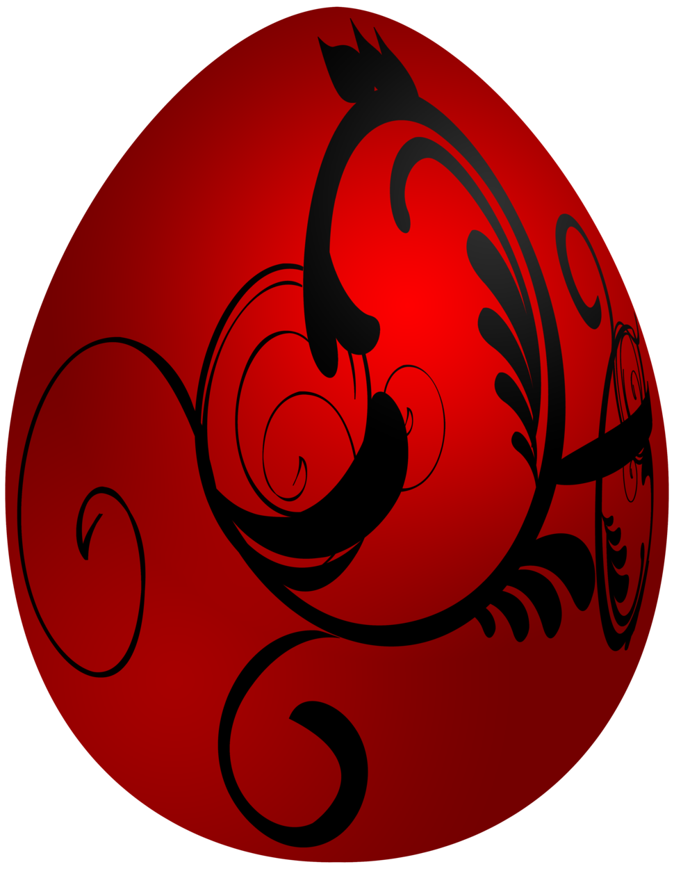 Easter Red Decorative Egg PNG Clip Art