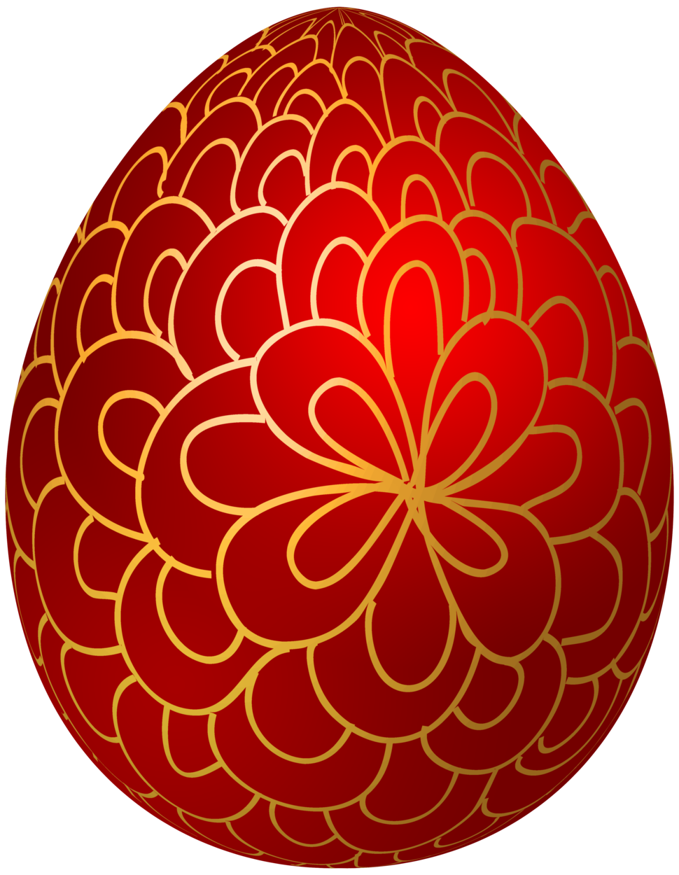 Red Decorative Easter Egg PNG Clip Art