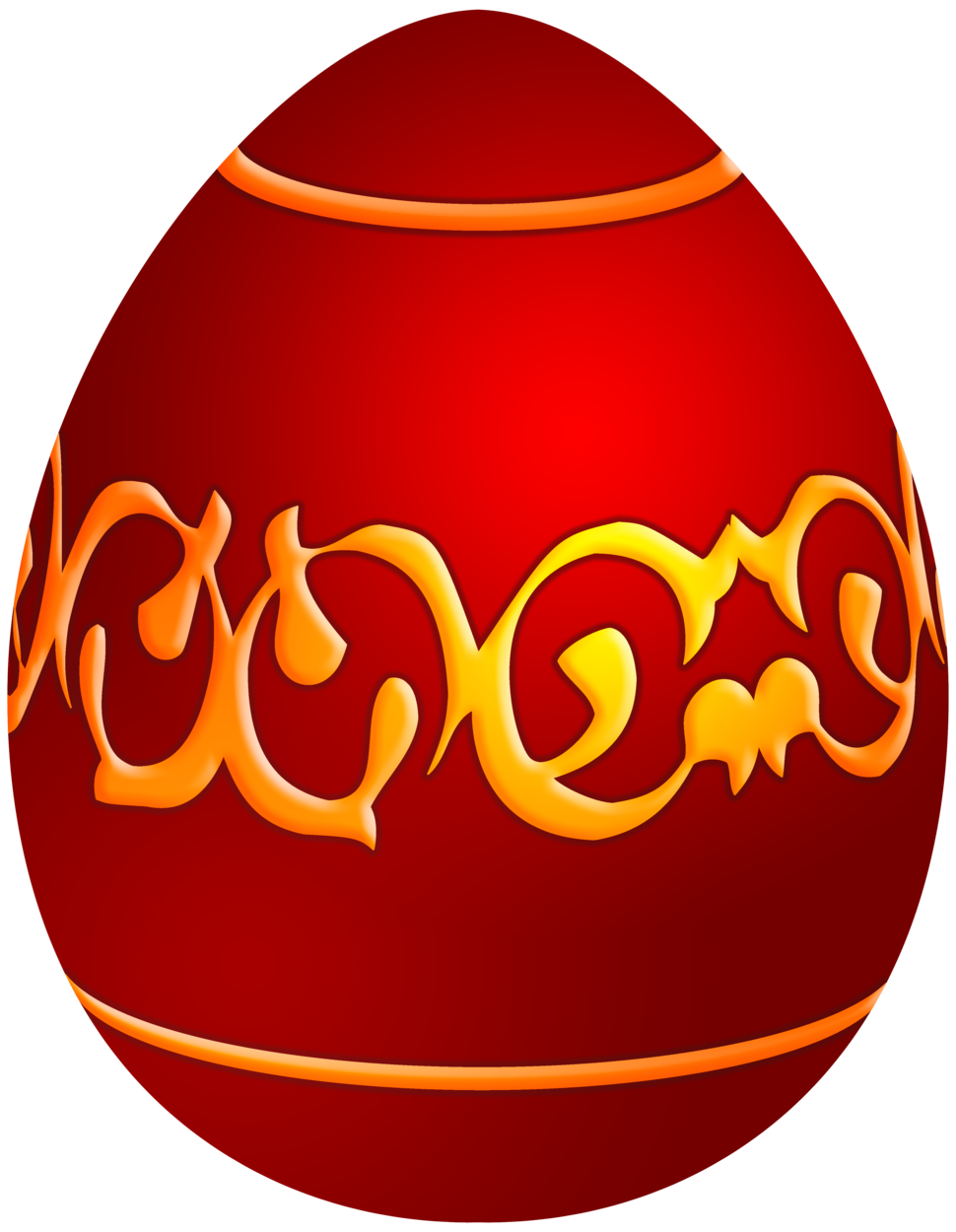 Easter Decorative Red Egg PNG Clip Art