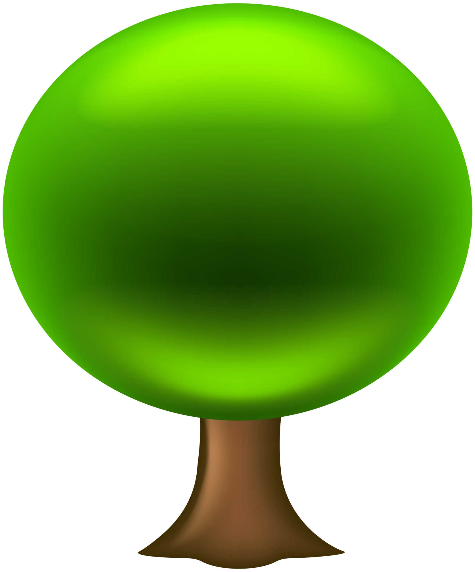 Oval Tree PNG Clip Art