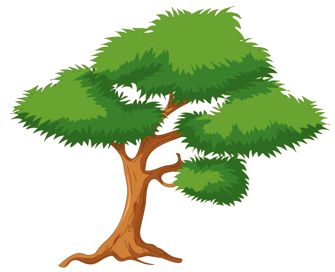 green cartoon tree png clip art rh clipart info tree clipart no background tree clipart free
